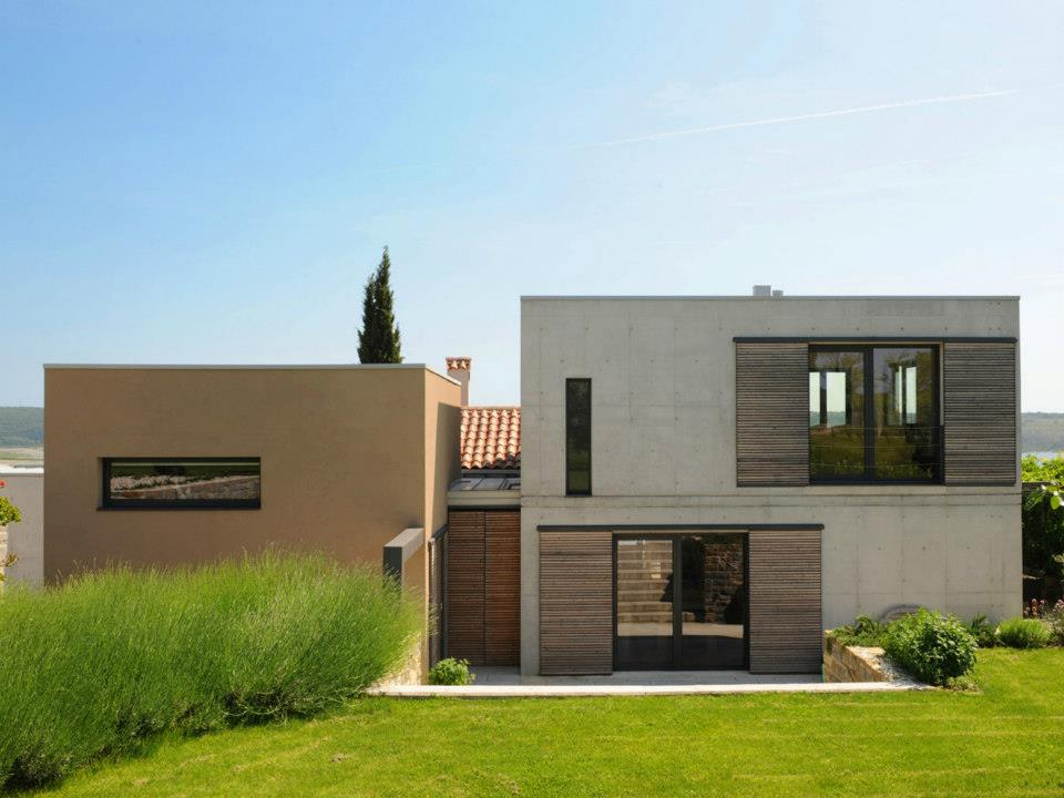 Aluminijasta Okna in Vrata Moderna Novogradnja Pi-Modul