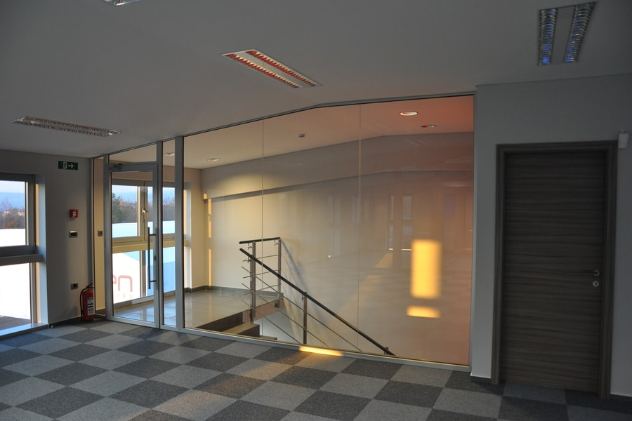 Aluminijaste Steklene Predelne Pregradne Stene 8 Pi-Modul